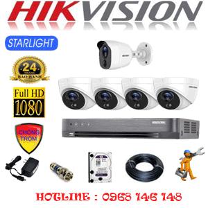 TRỌN BỘ 5 CAMERA HIKVISION 2.0MP (HIK-2421122)-HIK-2421122
