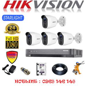 TRỌN BỘ 4 CAMERA HIKVISION 2.0MP (HIK-242200)-HIK-242200
