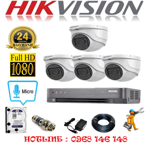 TRỌN BỘ 4 CAMERA HIKVISION 2.0MP (HIK-242300)-HIK-242300