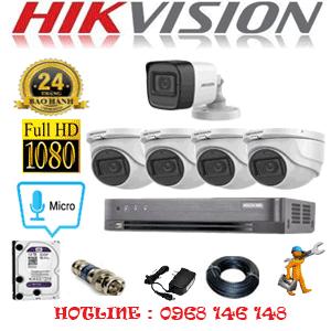 Lắp Đặt Trọn Bộ 5 Camera Hikvision 2.0Mp (Hik-2423124)-HIK-2423124