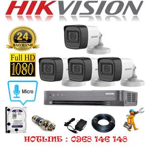 TRỌN BỘ 4 CAMERA HIKVISION 2.0MP (HIK-242400)-HIK-242400