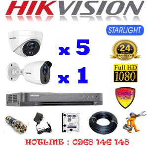 Lắp Đặt Trọn Bộ 6 Camera Hikvision 2.0Mp (Hik-2521122)-HIK-2521122