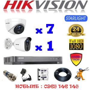 Lắp Đặt Trọn Bộ 8 Camera Hikvision 2.0Mp (Hik-2721122)-HIK-2721122