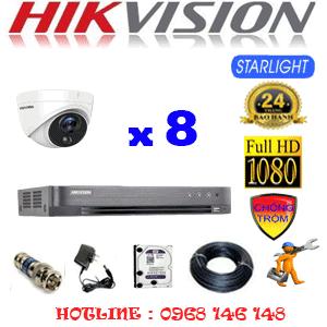 TRỌN BỘ 8 CAMERA HIKVISION 2.0MP (HIK-282100)-HIK-282100