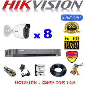TRỌN BỘ 8 CAMERA HIKVISION 2.0MP (HIK-282200)-HIK-282200