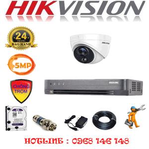 TRỌN BỘ 1 CAMERA HIKVISION 5.0MP (HIK-511500)-HIK-511500