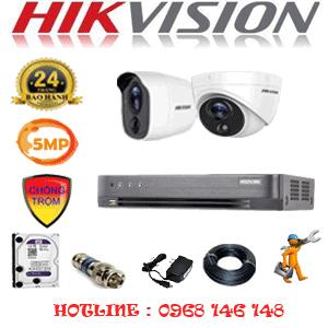 Lắp Đặt Trọn Bộ 2 Camera Hikvision 5.0Mp (Hik-5115116)-HIK-5115116