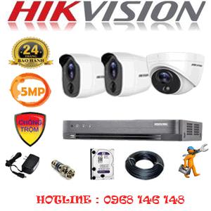 TRỌN BỘ 3 CAMERA HIKVISION 5.0MP (HIK-5115216)-HIK-5115216