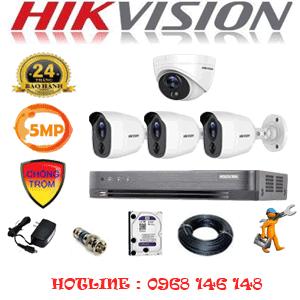 TRỌN BỘ 4 CAMERA HIKVISION 5.0MP (HIK-5115316)-HIK-5115316
