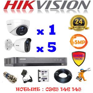 TRỌN BỘ 6 CAMERA HIKVISION 5.0MP (HIK-5115516)-HIK-5115516