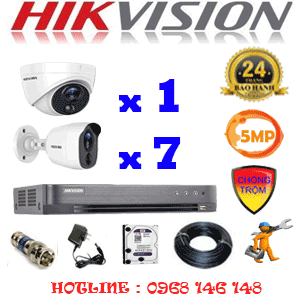 TRỌN BỘ 8 CAMERA HIKVISION 5.0MP (HIK-5115716)-HIK-5115716