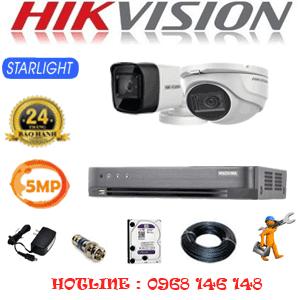 Lắp Đặt Trọn Bộ 2 Camera Hikvision 5.0Mp (Hik-5119120)-HIK-5119120