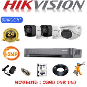 TRỌN BỘ 3 CAMERA HIKVISION 5.0MP (HIK-5119220)-HIK-5119220