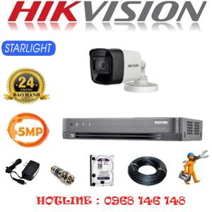 TRỌN BỘ 1 CAMERA HIKVISION 5.0MP (HIK-512000)-HIK-512000
