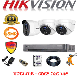 TRỌN BỘ 3 CAMERA HIKVISION 5.0MP (HIK-5215116)-HIK-5215116