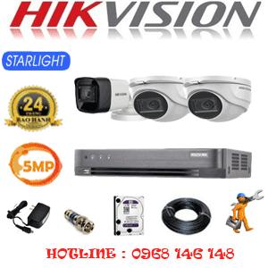 TRỌN BỘ 3 CAMERA HIKVISION 5.0MP (HIK-5219120)-HIK-5219120