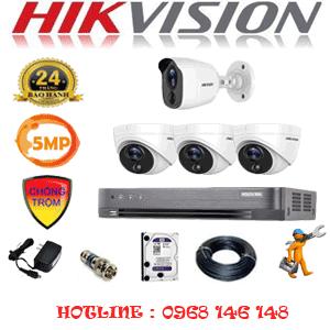 Lắp Đặt Trọn Bộ 4 Camera Hikvision 5.0Mp (Hik-5315116)-HIK-5315116