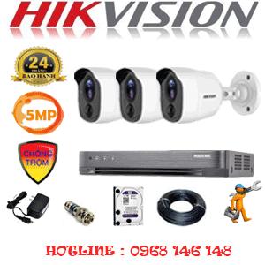TRỌN BỘ 3 CAMERA HIKVISION 5.0MP (HIK-531600)-HIK-531600