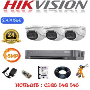 TRỌN BỘ 3 CAMERA HIKVISION 5.0MP (HIK-531900)-HIK-531900