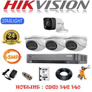 Lắp Đặt Trọn Bộ 4 Camera Hikvision 5.0Mp (Hik-5319120)-HIK-5319120
