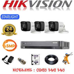 Trọn Bộ 3 Camera Hikvision 5.0Mp (Hik-532000)-HIK-532000