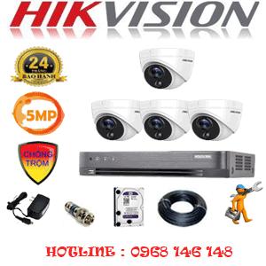 Lắp Đặt Trọn Bộ 4 Camera Hikvision 5.0Mp (Hik-541500)-HIK-541500