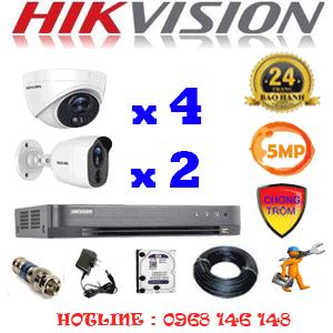 TRỌN BỘ 6 CAMERA HIKVISION 5.0MP (HIK-5415216)-HIK-5415216