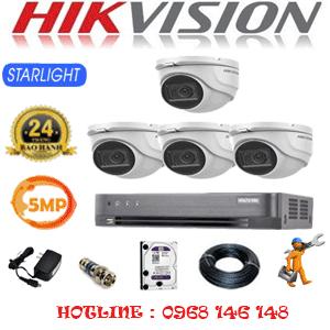 Lắp Đặt Trọn Bộ 4 Camera Hikvision 5.0Mp (Hik-541900)-HIK-541900