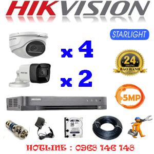 TRỌN BỘ 6 CAMERA HIKVISION 5.0MP (HIK-5419220)-HIK-5419220