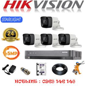 TRỌN BỘ 4 CAMERA HIKVISION 5.0MP (HIK-542000)-HIK-542000