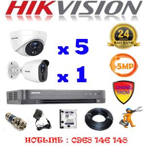 TRỌN BỘ 6 CAMERA HIKVISION 5.0MP (HIK-5515116)-HIK-5515116