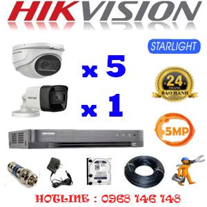 TRỌN BỘ 6 CAMERA HIKVISION 5.0MP (HIK-5519120)-HIK-5519120
