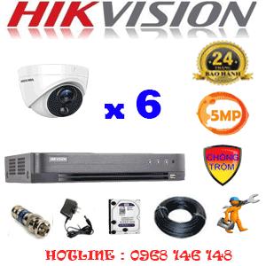 TRỌN BỘ 6 CAMERA HIKVISION 5.0MP (HIK-561500)-HIK-561500