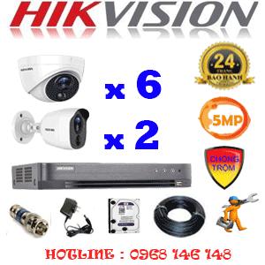 TRỌN BỘ 8 CAMERA HIKVISION 5.0MP (HIK-5615216)-HIK-5615216