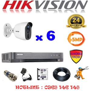 TRỌN BỘ 6 CAMERA HIKVISION 5.0MP (HIK-561600)-HIK-561600