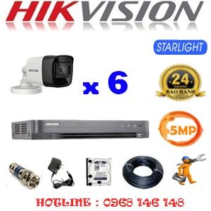 TRỌN BỘ 6 CAMERA HIKVISION 5.0MP (HIK-562000)-HIK-562000