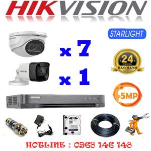 TRỌN BỘ 8 CAMERA HIKVISION 5.0MP (HIK-5719120)-HIK-5719120