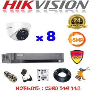 TRỌN BỘ 8 CAMERA HIKVISION 5.0MP (HIK-581500)-HIK-581500