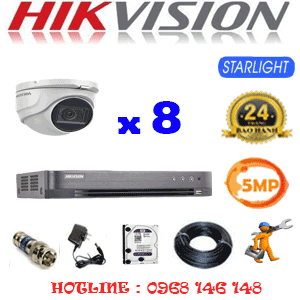TRỌN BỘ 8 CAMERA HIKVISION 5.0MP (HIK-581900)-HIK-581900