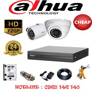 Lắp Đặt Trọn Bộ 2 Camera Dahua 1.0Mp (Dah-11112)-DAH-11112C