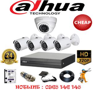 Lắp Đặt Trọn Bộ 5 Camera Dahua 1.0Mp (Dah-11142)-DAH-11142C