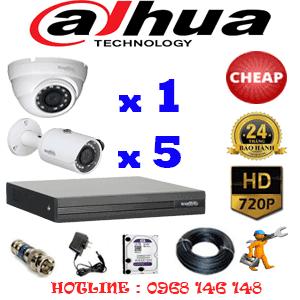 Lắp Đặt Trọn Bộ 6 Camera Dahua 1.0Mp (Dah-11152)-DAH-11152C