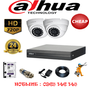 Lắp Đặt Trọn Bộ 2 Camera Dahua 1.0Mp (Dah-12100)-DAH-12100C