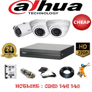 Lắp Đặt Trọn Bộ 3 Camera Dahua 1.0Mp (Dah-12112)-DAH-12112C