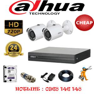 Lắp Đặt Trọn Bộ 2 Camera Dahua 1.0Mp (Dah-12200)-DAH-12200C