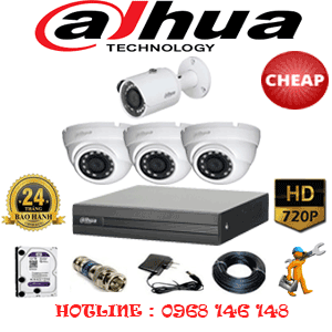 Lắp Đặt Trọn Bộ 4 Camera Dahua 1.0Mp (Dah-13112)-DAH-13112C