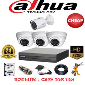 Trọn Bộ 4 Camera Dahua 1.0Mp (Dah-13112)-DAH-13112C