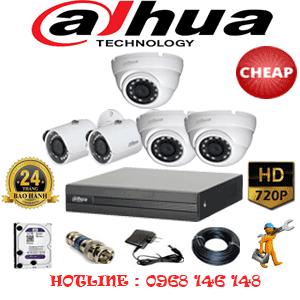Lắp Đặt Trọn Bộ 5 Camera Dahua 1.0Mp (Dah-13122)-DAH-13122C
