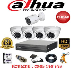 Lắp Đặt Trọn Bộ 5 Camera Dahua 1.0Mp (Dah-14112)-DAH-14112C