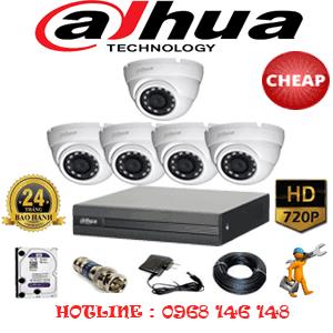 Lắp Đặt Trọn Bộ 5 Camera Dahua 1.0Mp (Dah-15100)-DAH-15100C